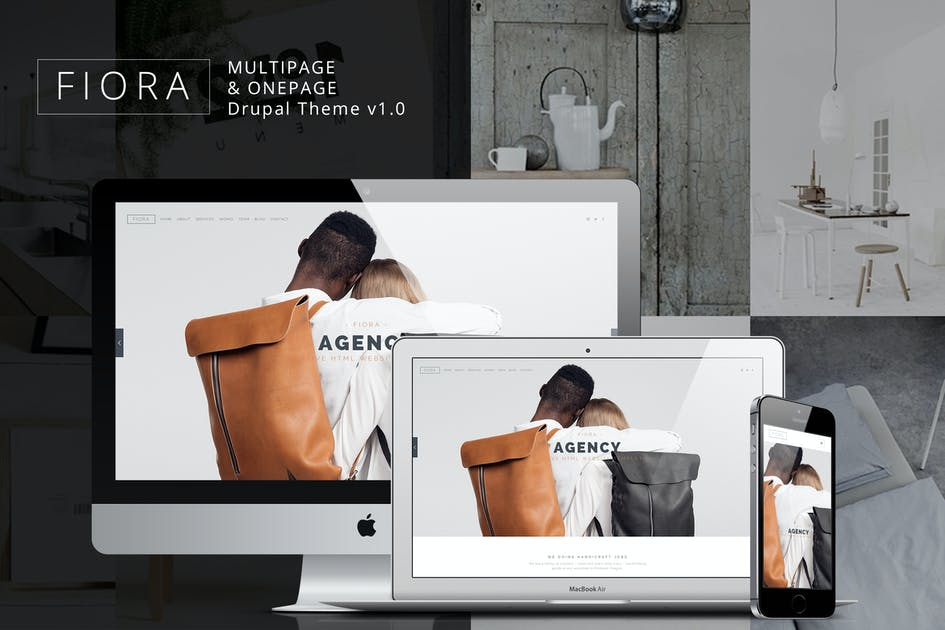 Download Fiora - Multipage & Onepage Drupal theme by ArrowHiTech