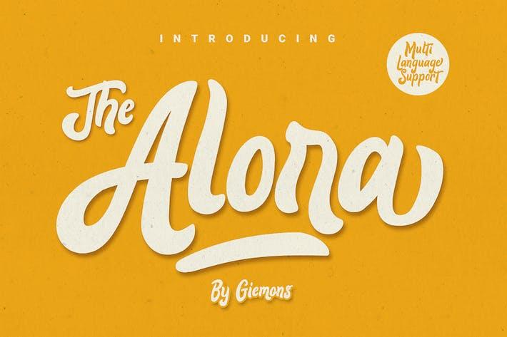 Thumbnail for Alora typeface