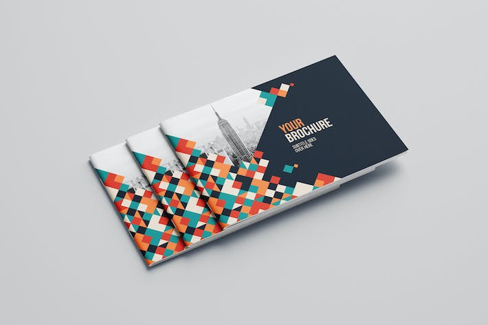 Cool Colorful Squares Brochure