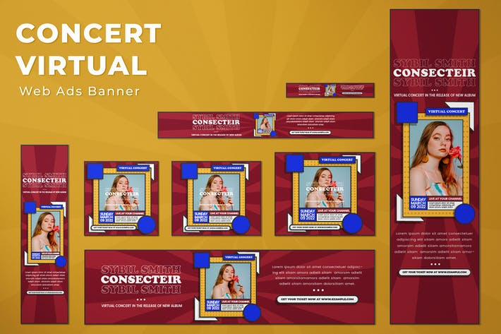 Web Ads Banners - Concert Virtual