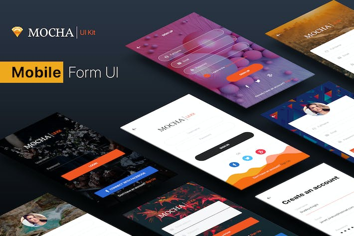 Thumbnail for SignUp / Login - Mobile Form UI Kit