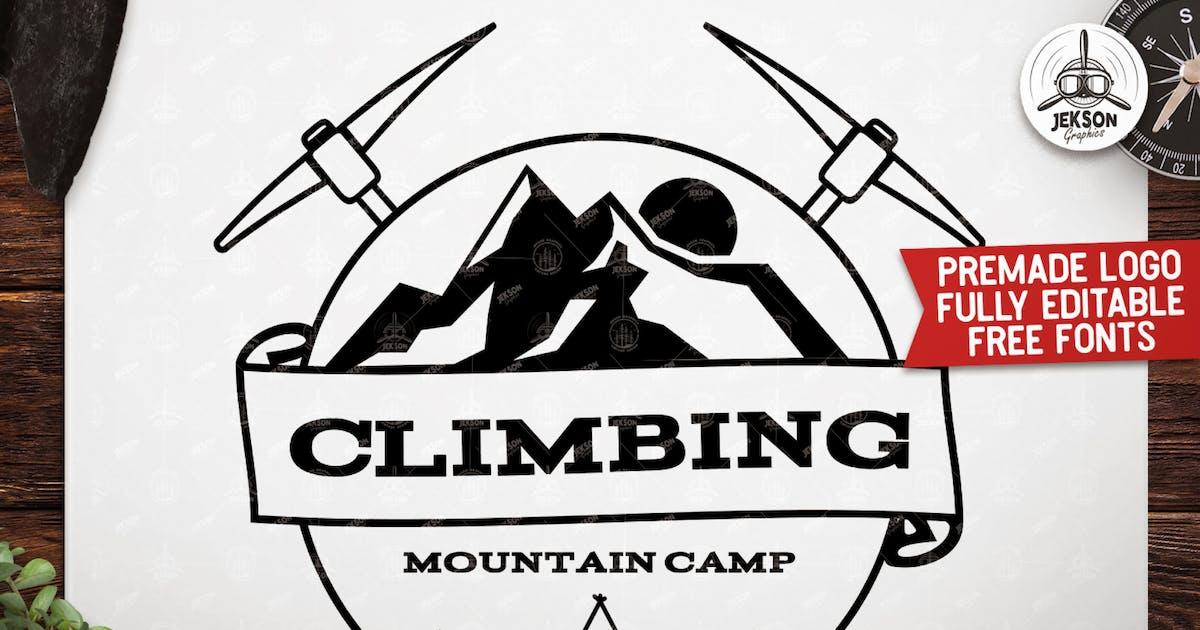 Download Retro Climbing Logo, Vintage Custom Travel Badge by JeksonJS