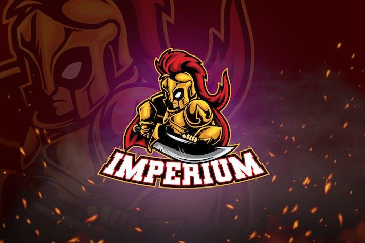 Thumbnail for Male Warrior Mascot & Logo V5 - Golden Knight