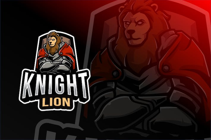 Cover Image For Knight Lion Esport Logo Template