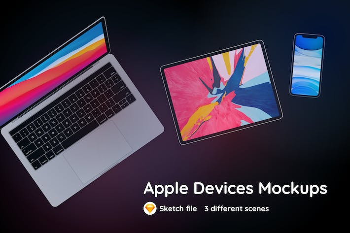 Thumbnail for Apple-Geräte Sketch Mockup