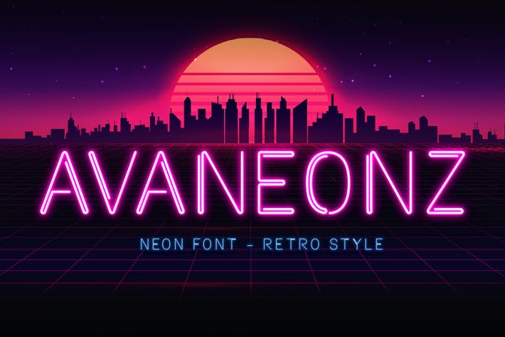 Thumbnail for Avaneonz - Neon Font