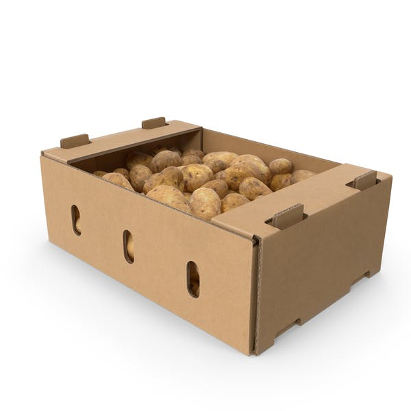 Thumbnail for Cardboard Display Box With Potatoes