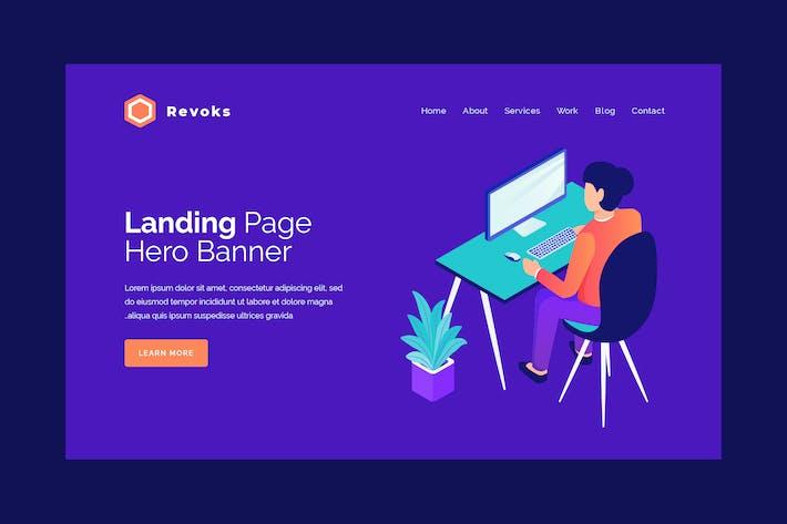 Thumbnail for Revoks - Hero Banner Template