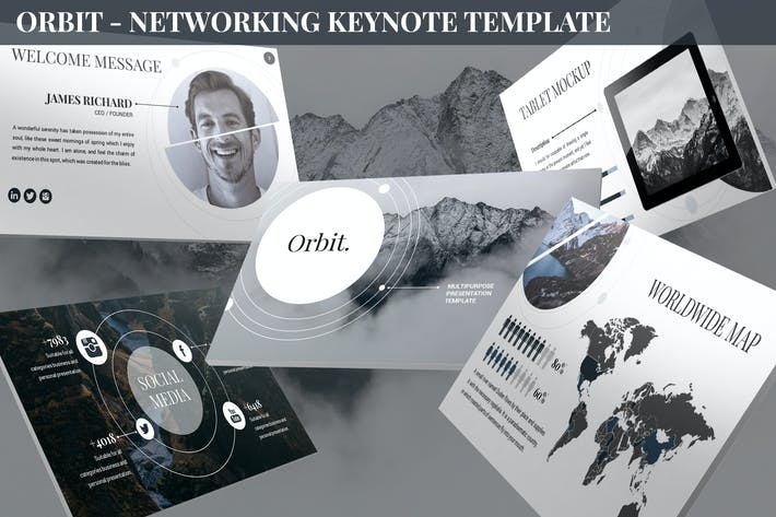 Thumbnail for Orbit - Networking Keynote Template
