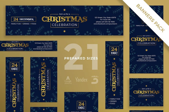Thumbnail for Christmas Celebration Banner Pack Template