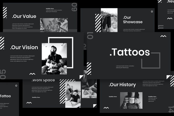 Thumbnail for Tattoo Keynote Presentation Template