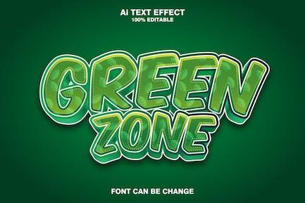 green zone 3d text effect