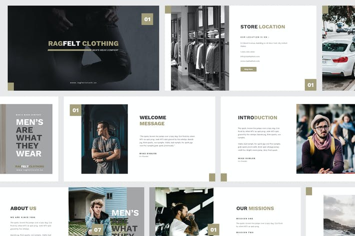 Cover Image For Man Fashion Keynote Template