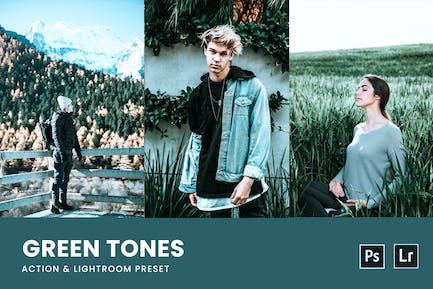 Green Tones Photoshop Action & Lightrom Presets