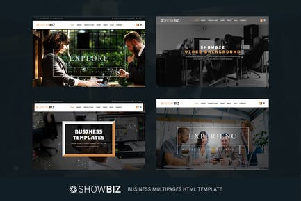 Showbiz - Multipages Business HTML Template