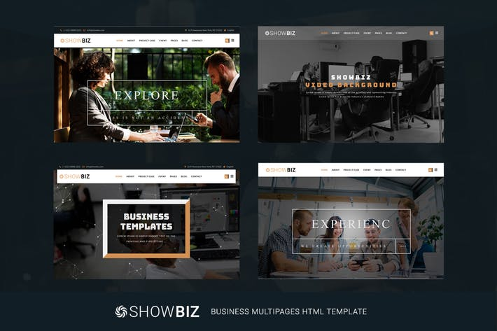 Thumbnail for Showbiz - Multipages Business HTML Template