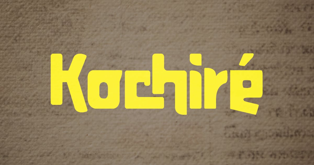 Download Kochire Font by spidergraph