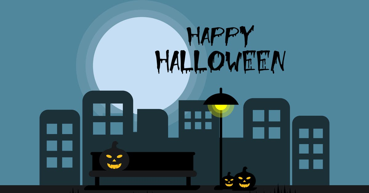 Download Happy Halloween - Illustration Background by Graphiqa