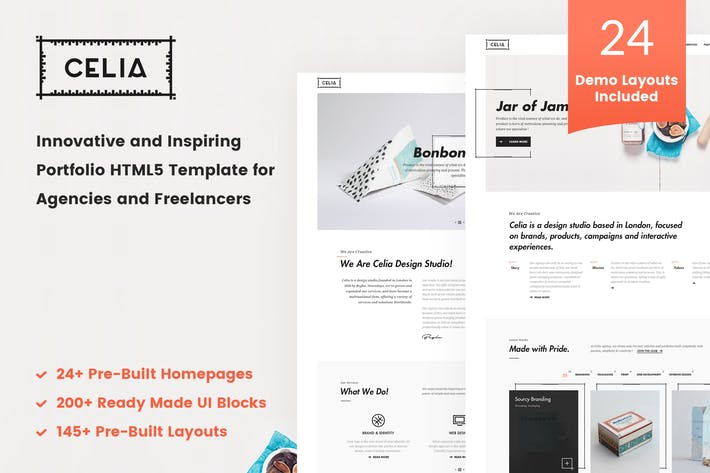 Thumbnail for Celia - Innovative Portfolio HTML5 Template