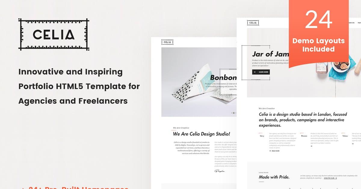 Download Celia - Innovative Portfolio HTML5 Template by 7oroof