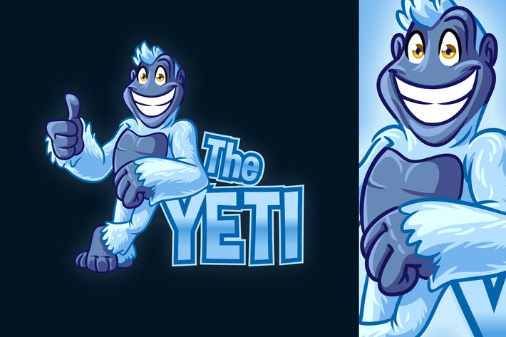 Thumbnail for Cartoon Yeti Mascot Logo 2.0
