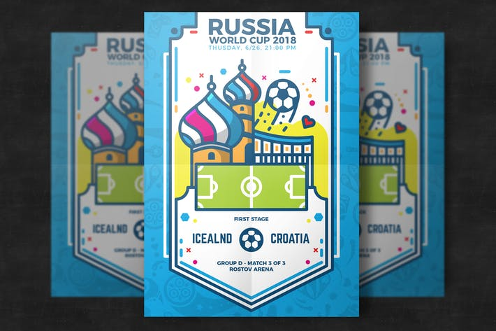 Thumbnail for Football world cup flyer template