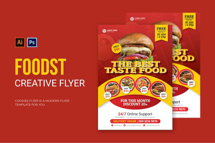 Thumbnail for Foodst - Flyer