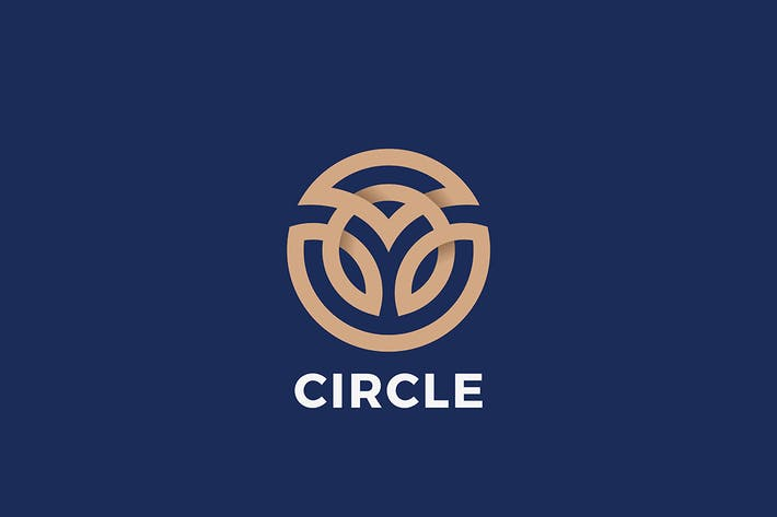 Thumbnail for Luxury Fashion Logo circle abstract Linear Outline