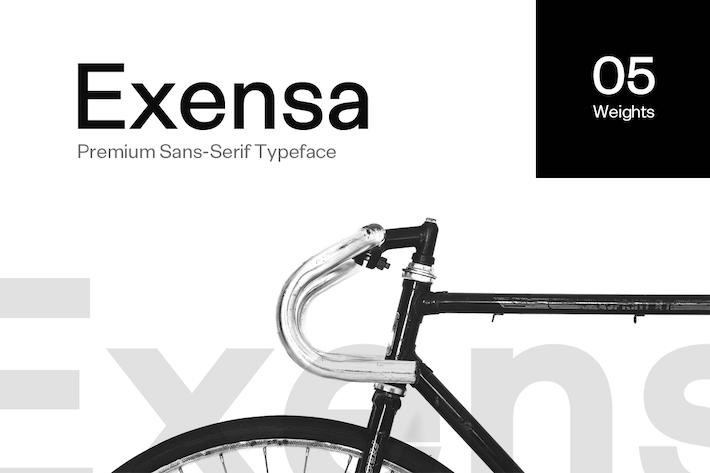 Cover Image For Exensa Grotesk - Sans Serif Typeface & Web Fonts