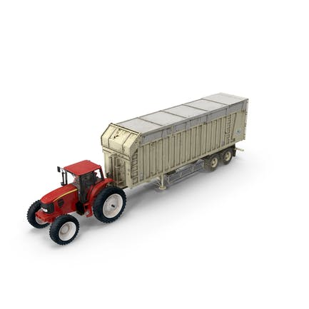 Tractor with Harvester Trailer