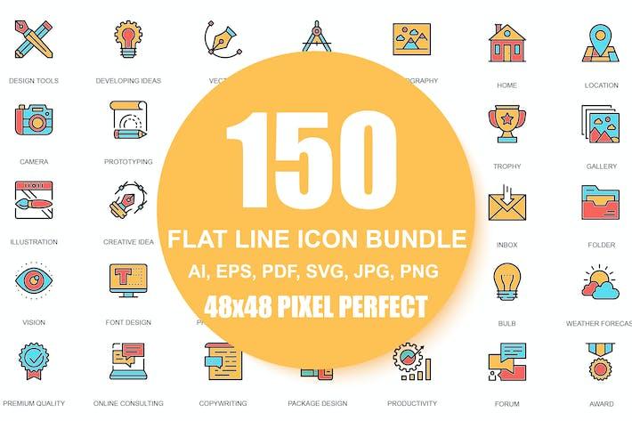 Thumbnail for Icones de ligne Pack de pictogrammes linéaires