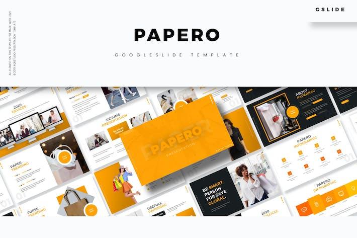 Thumbnail for Papero - Google Slide Template