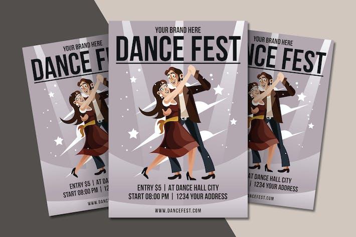 Thumbnail for Dance Festival Flyer Template