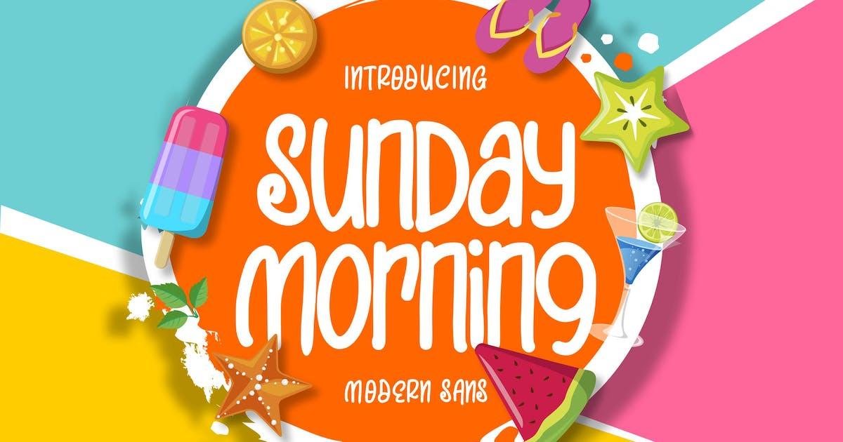 Download Sunday Morning | Modern Sans Font by Vunira