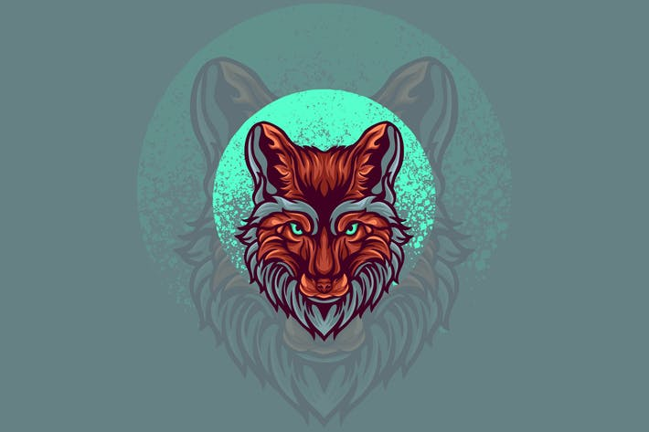 Fuchs Tierillustration