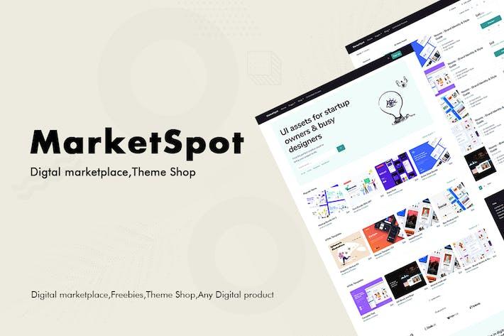 Thumbnail for Marketspot - Digital Marketplace Template for Crea