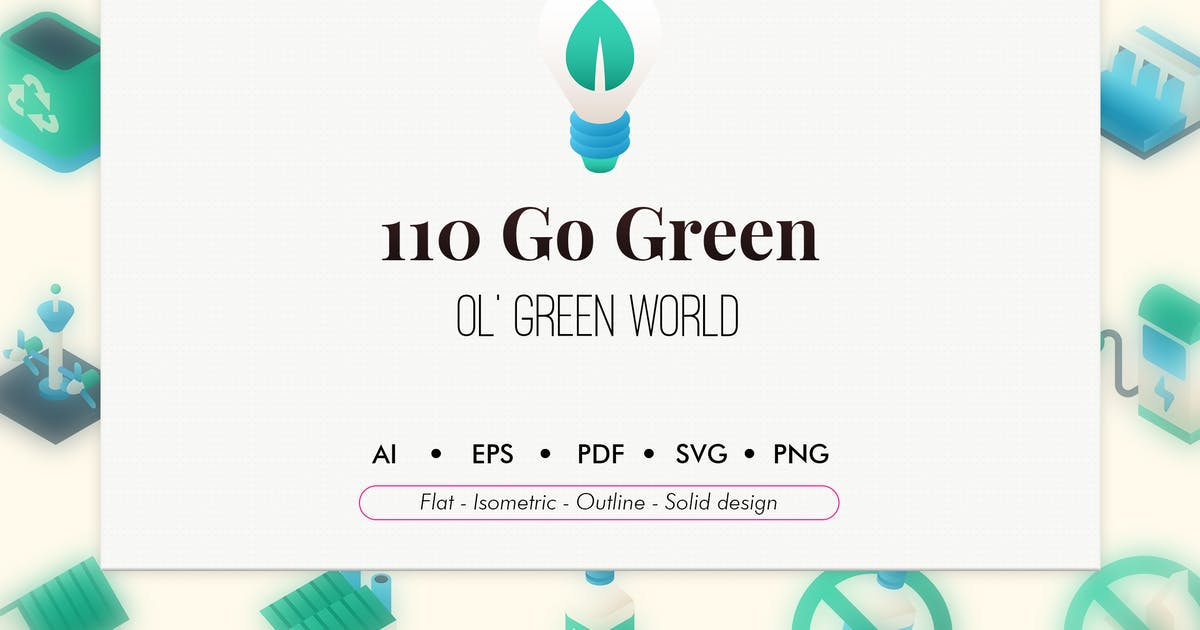 Download 110 Go green elements icon pack by Chanut_industries