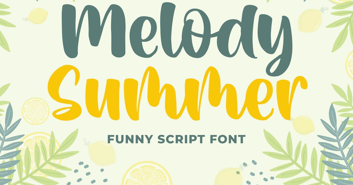 Download Melody Summer Funny Script Font by Blankids