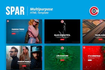 Spar - Mehrzweck-HTML-Vorlage