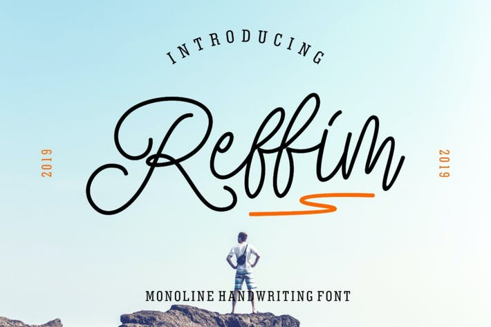 Thumbnail for Reffim - Monoline Handwriting