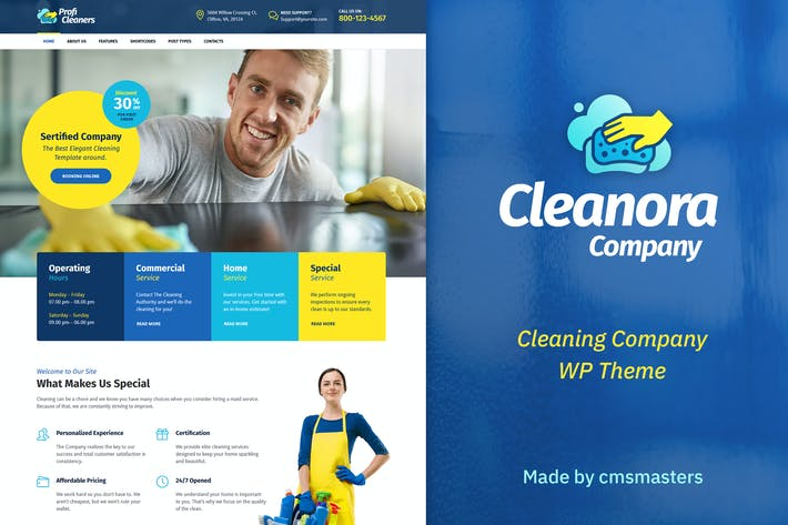 Thumbnail for Cleanora - Cleaning Services Theme
