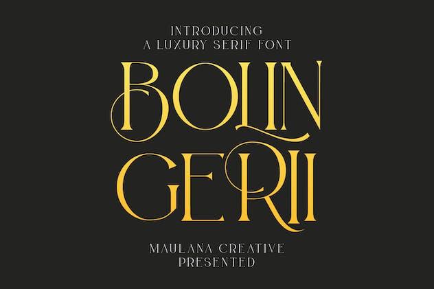 Bolin Gerii Luxury Serif Font