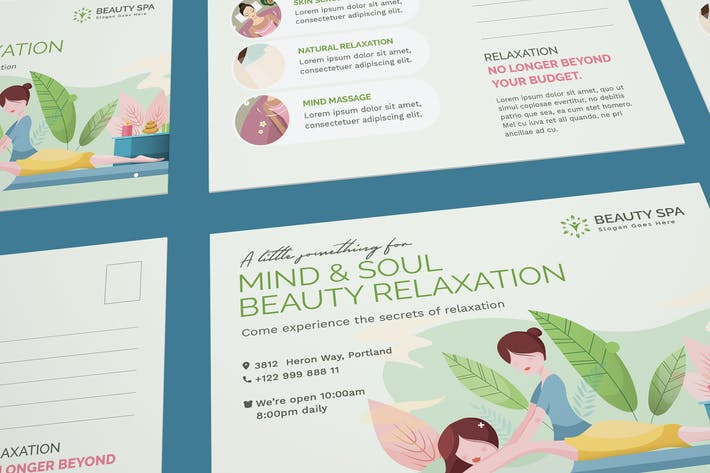 Thumbnail for Beauty Spa Postcard Template