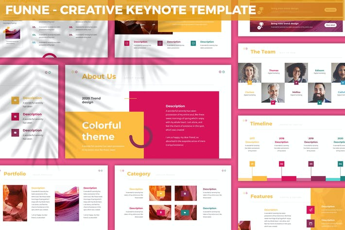 Thumbnail for Funne - Creative Keynote Template