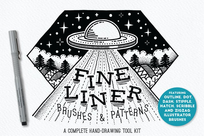 Thumbnail for Fine Liner Brushes & Patterns