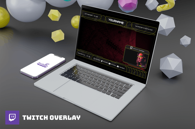 Yellowsqueze - Twitch Overlay Template