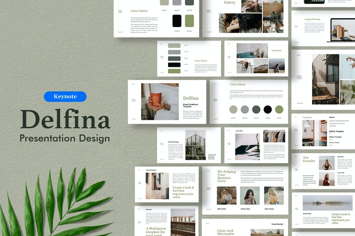 Thumbnail for Delfina - Branding Guidelines Template Keynote