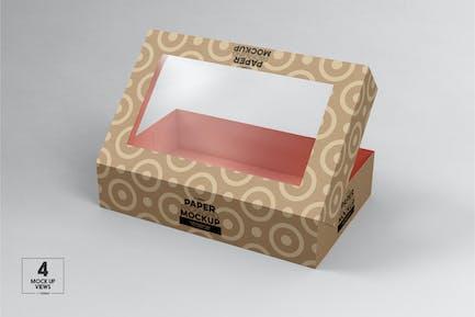 FlipTop Window Box Packaging Mockup