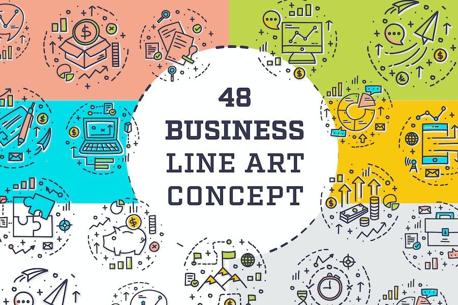 Business Line Art Concept