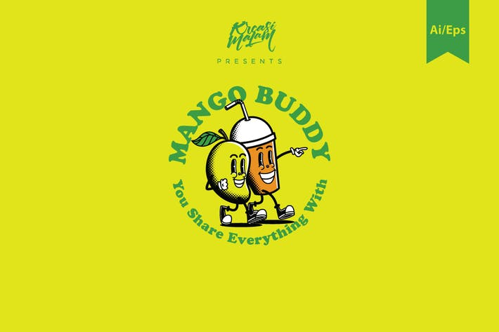 Cover Image For Mango Buddy Logo Template